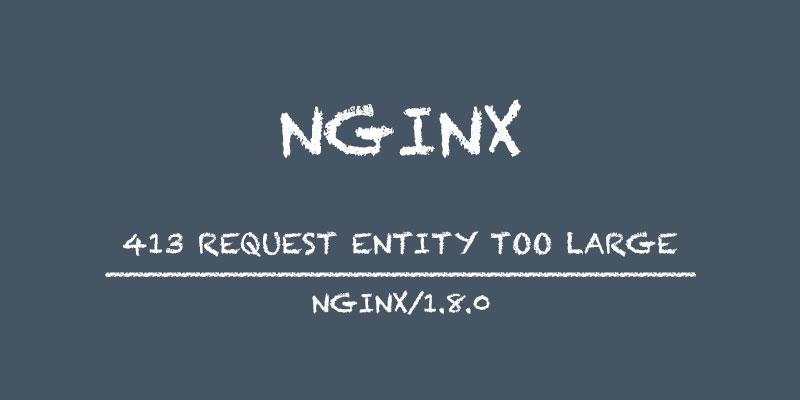 Nginx Error 413