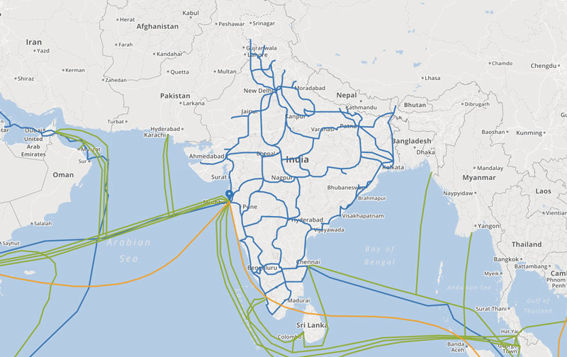 How India is Connected to the Internet