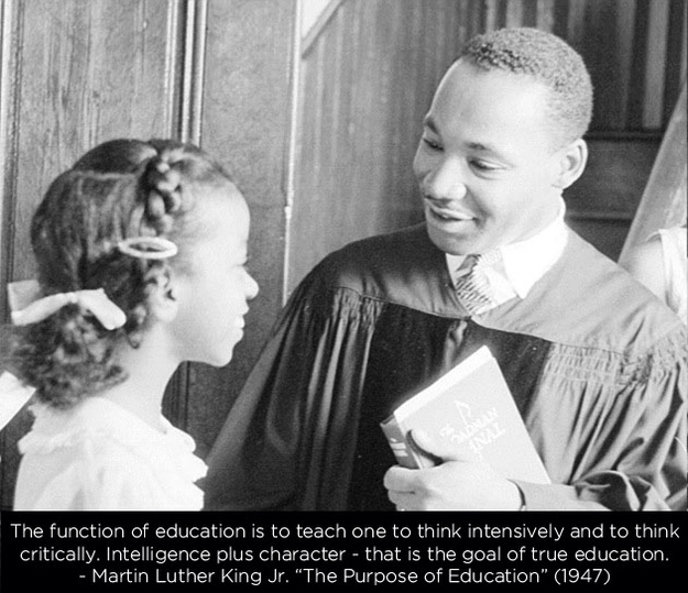 MLK Quotes: The Purpose of Education (1947)