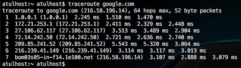 Terminal - Traceroute