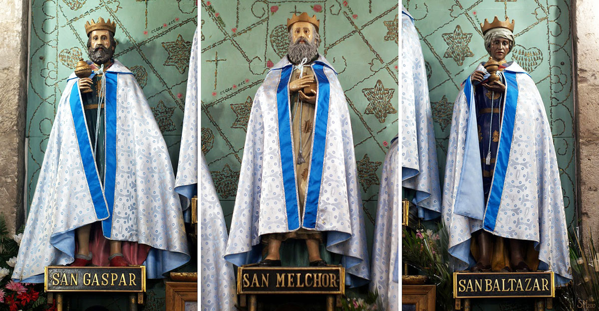 Three Kings: Gaspar, Melchor, and Baltazar