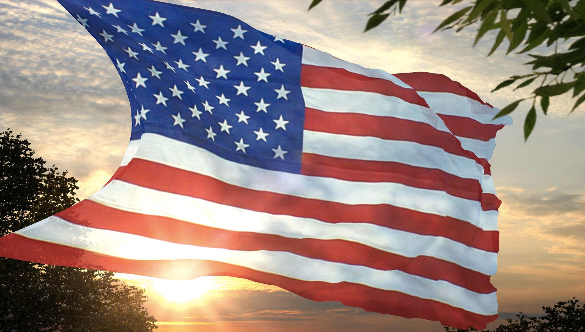 American Flag Background HD Image