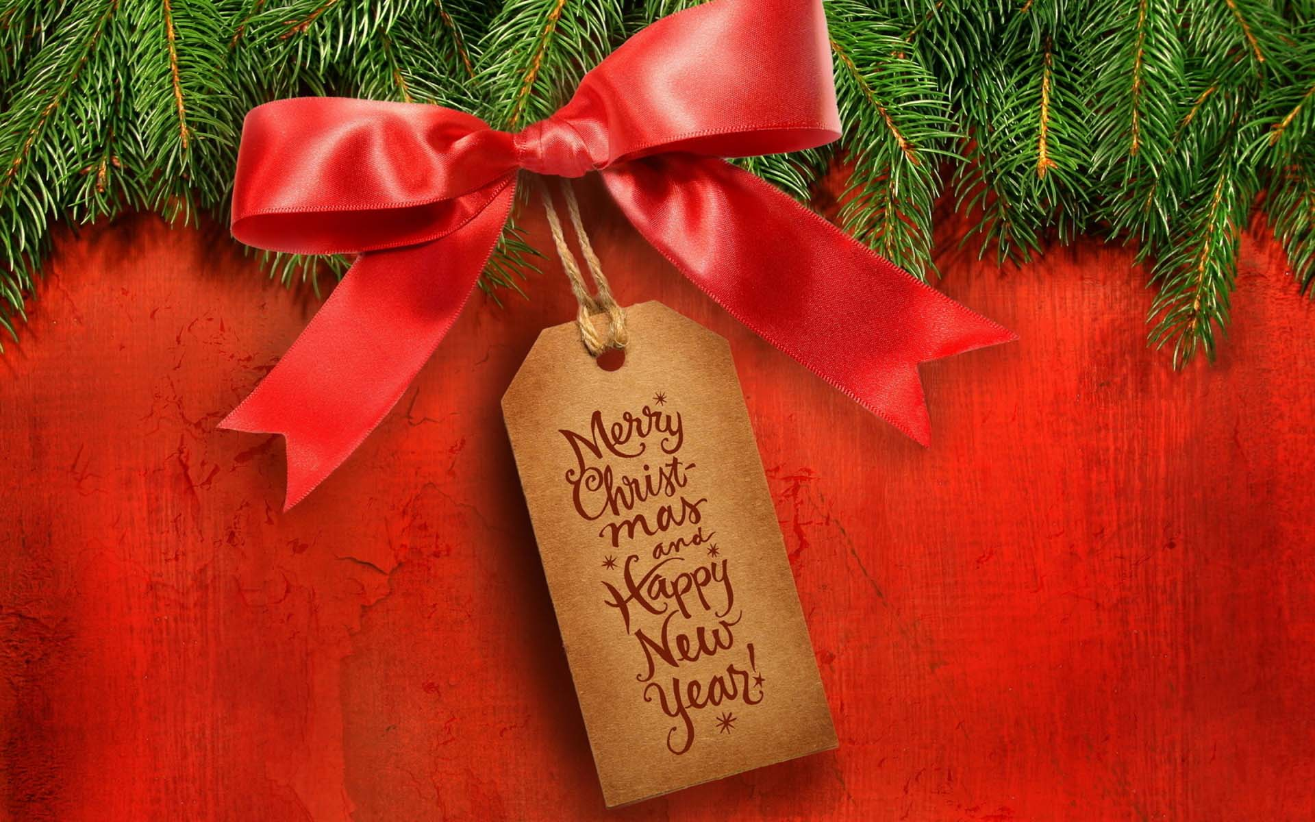 Marry Christmas and Happy New Year HD Wallpaper