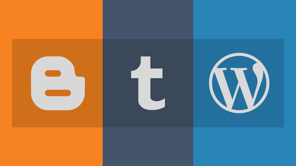 Blogger Tumblr WordPress