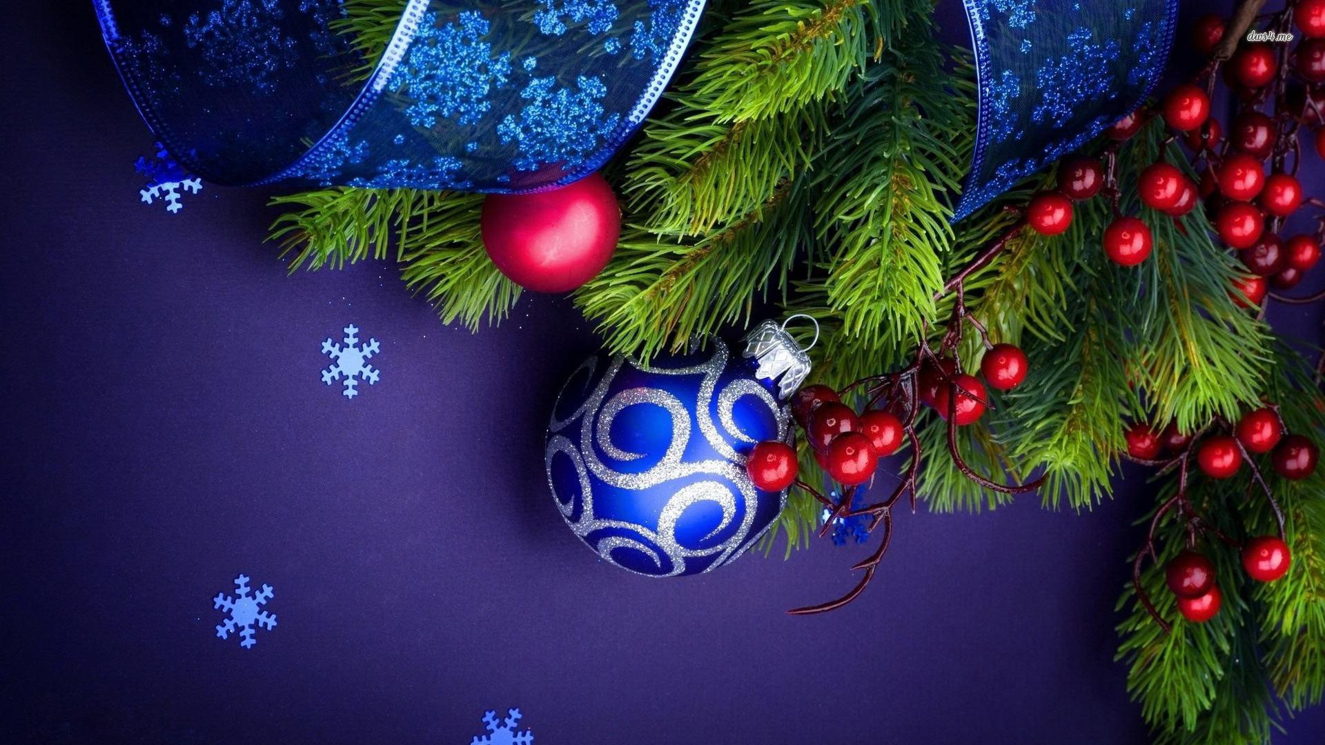 Christmas Wallpaper Blue