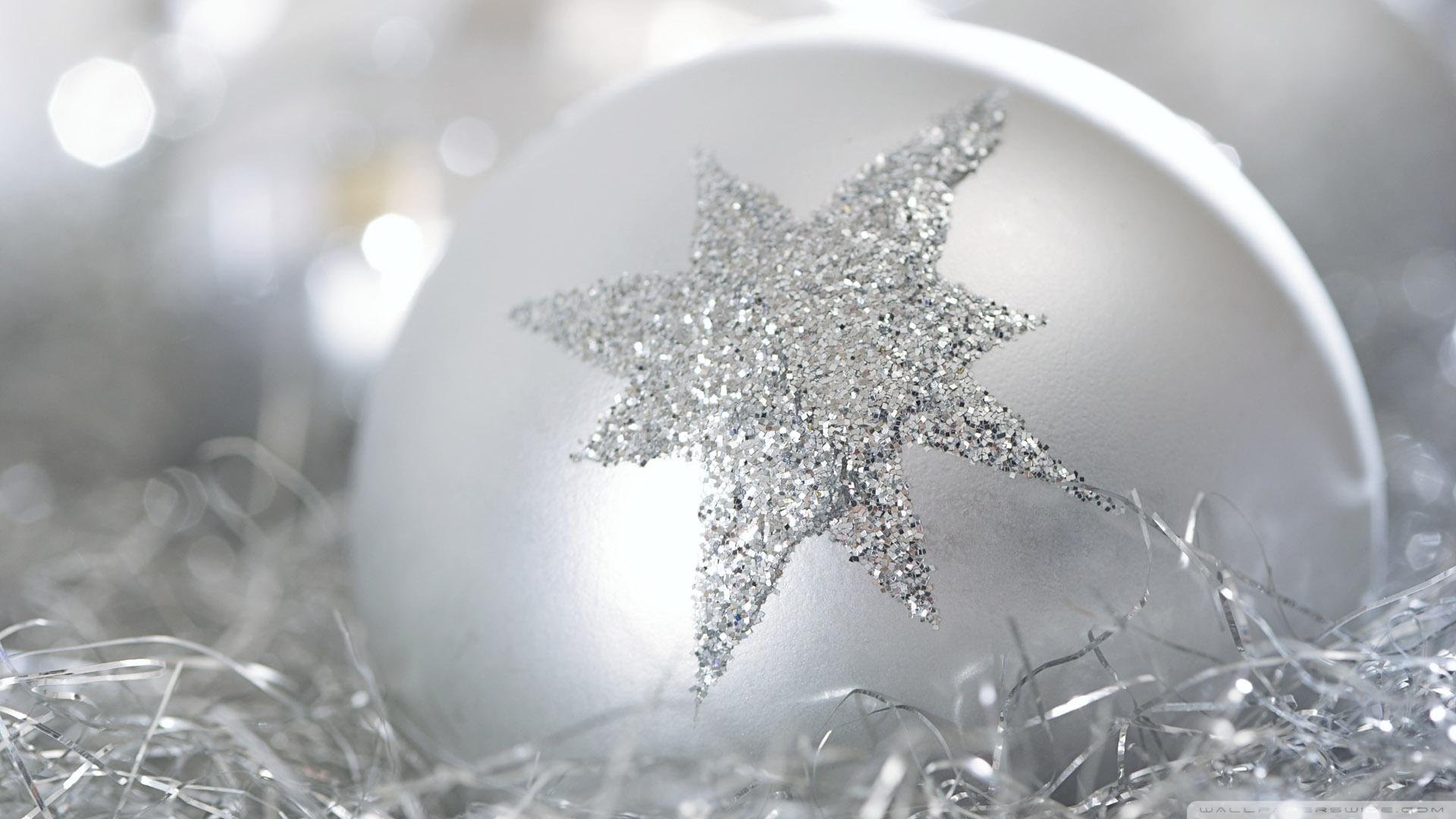 Christmas Wallpaper Silver