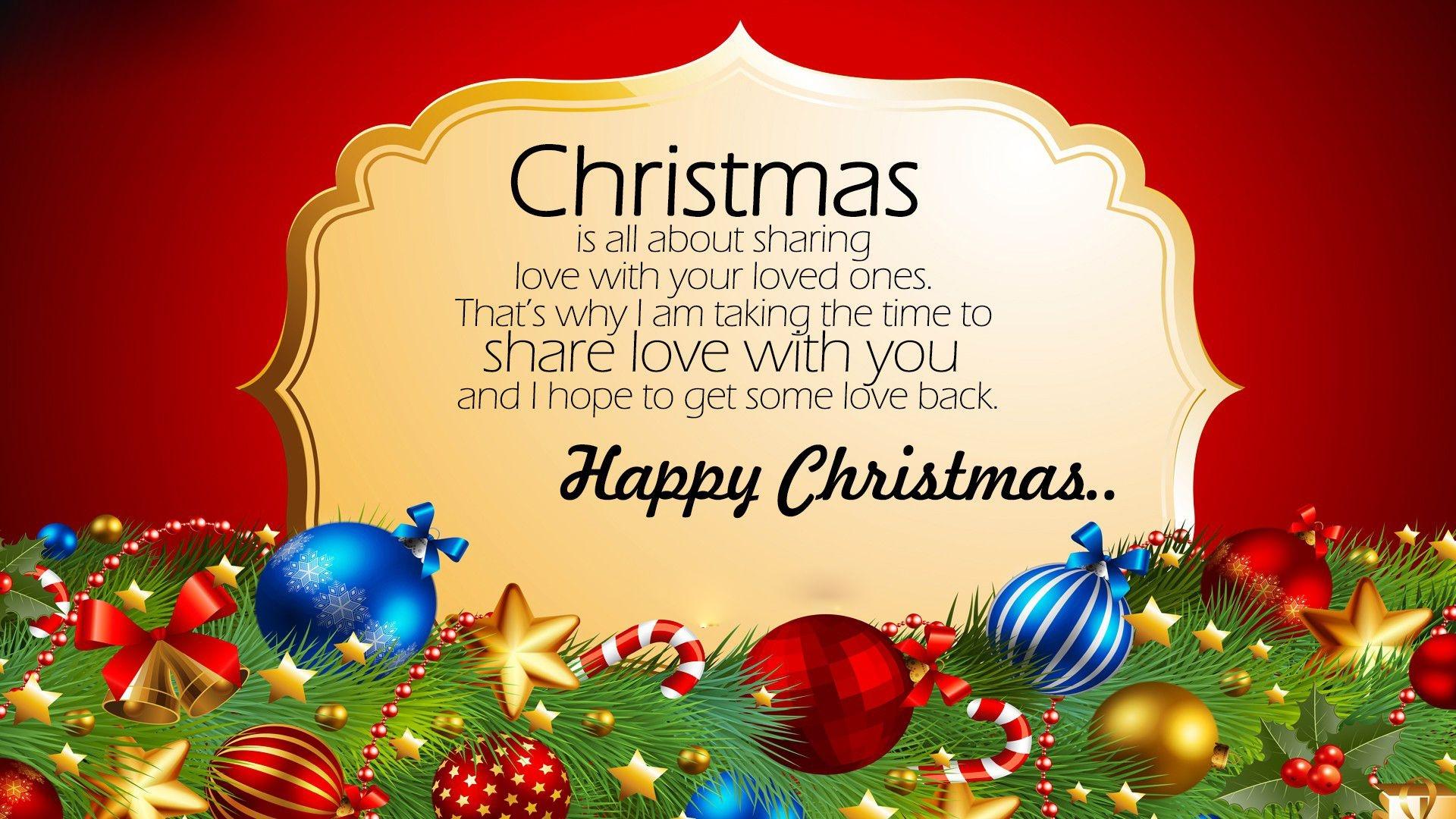Happy Christmas Best Quote Wallpaper
