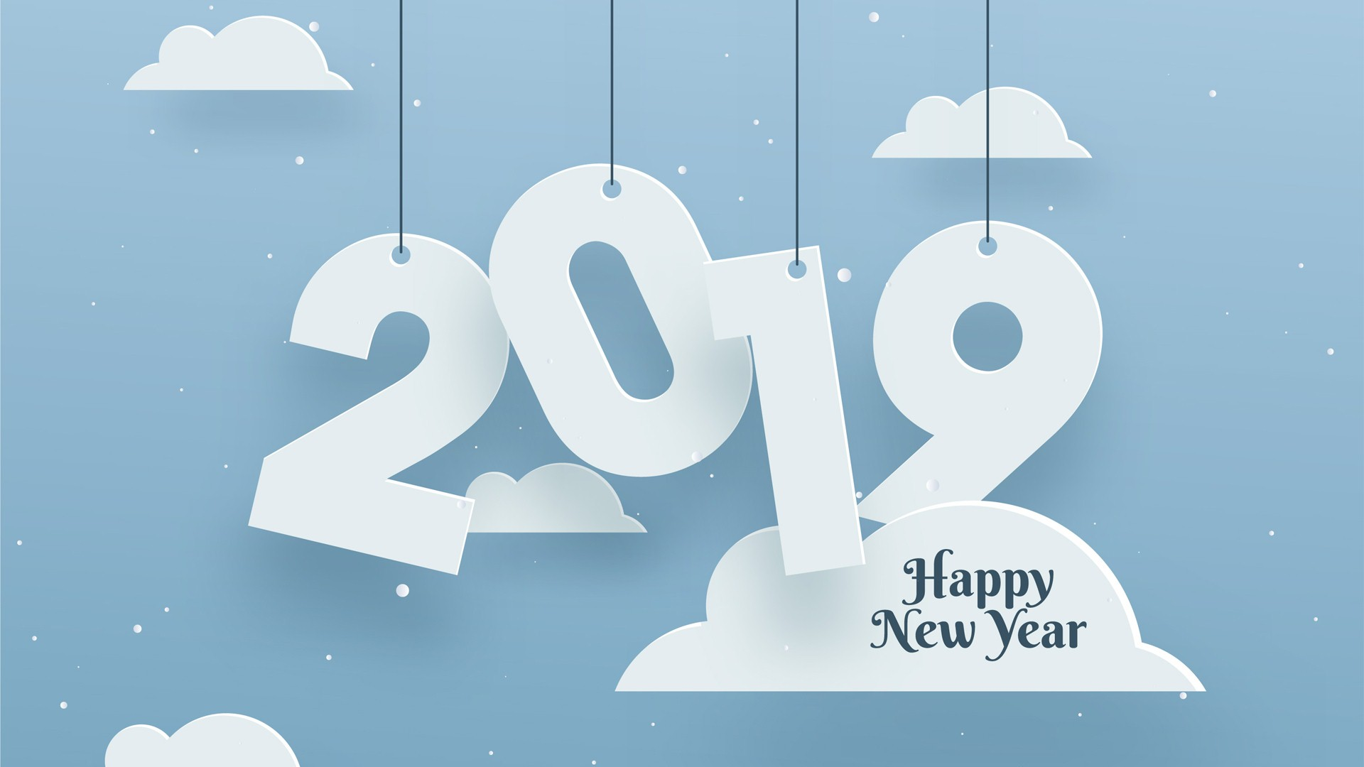 Happy New Year 2019 Clouds
