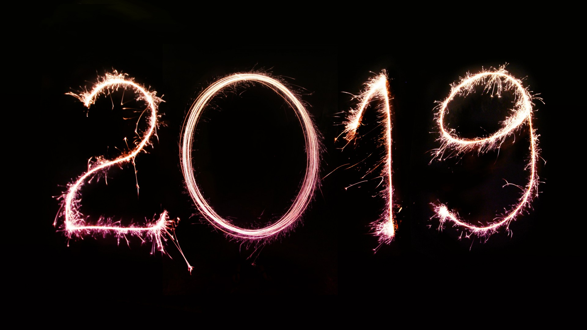 Happy New Year 2019 Sparkle
